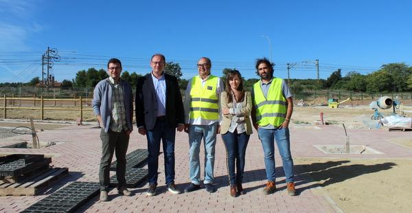 El alcalde de Almansa visita las obras del nuevo parque Miguel Ángel Blanco cofinanciado con Fondos Europeos